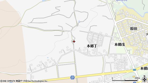 山形県西村山郡大江町本郷丁259周辺の地図
