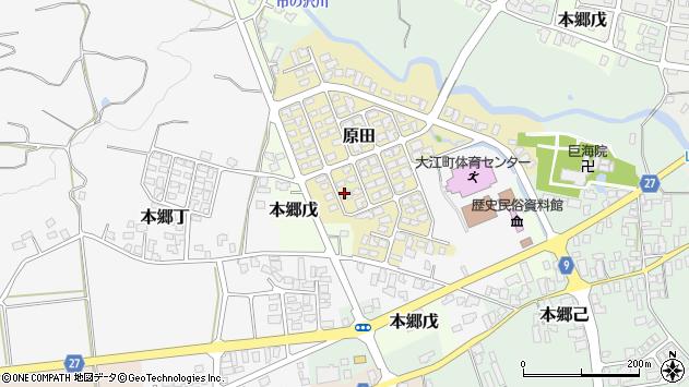 山形県西村山郡大江町原田9周辺の地図