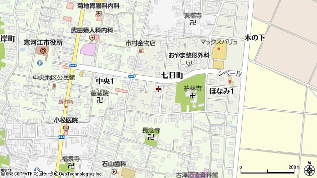 山形県寒河江市七日町周辺の地図