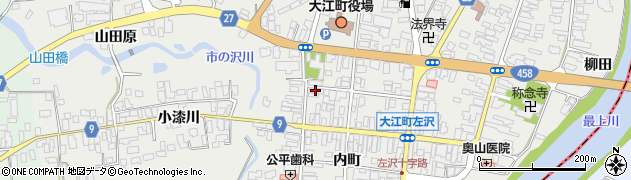 山形県西村山郡大江町左沢507周辺の地図