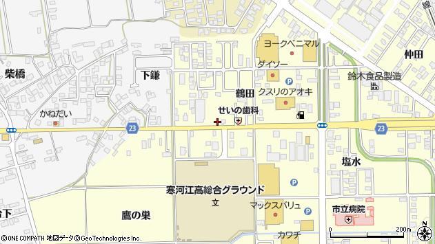 山形県寒河江市寒河江鶴田7周辺の地図