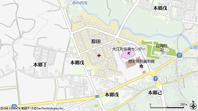 山形県西村山郡大江町原田10周辺の地図