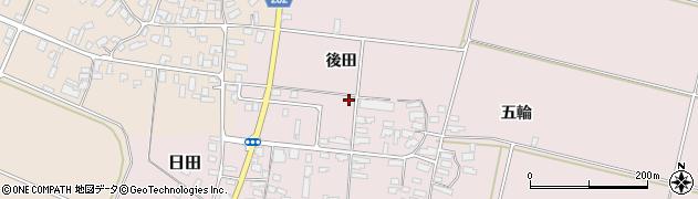 山形県寒河江市日田後田10周辺の地図