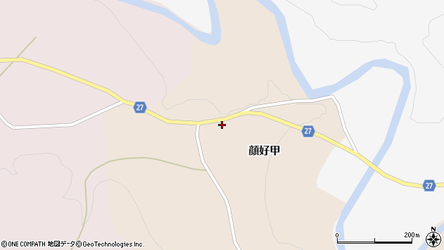 山形県西村山郡大江町顔好甲388周辺の地図