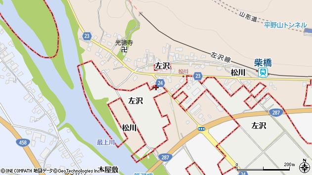 山形県西村山郡大江町左沢1750周辺の地図