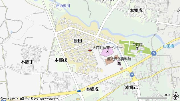 山形県西村山郡大江町原田11周辺の地図