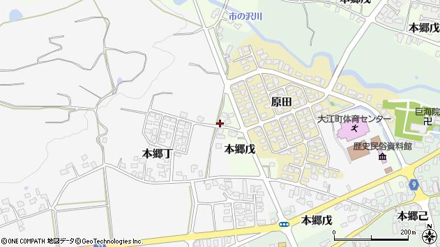 山形県西村山郡大江町本郷丁296周辺の地図