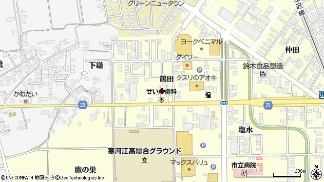 山形県寒河江市寒河江鶴田9周辺の地図