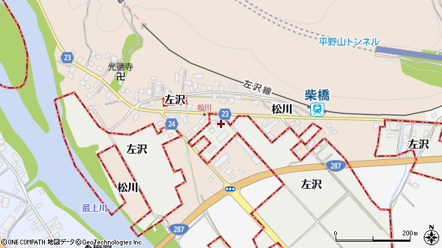 山形県西村山郡大江町左沢1791周辺の地図