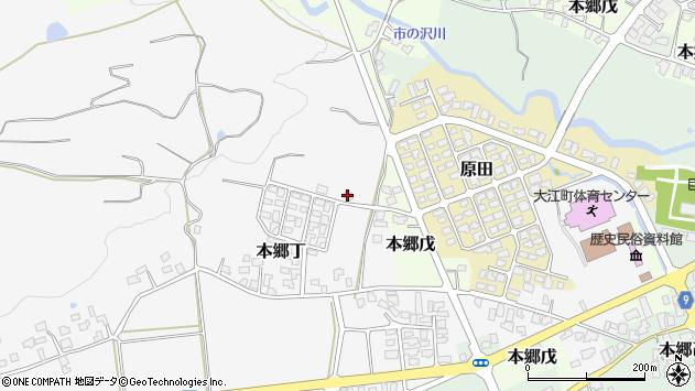 山形県西村山郡大江町本郷丁285周辺の地図