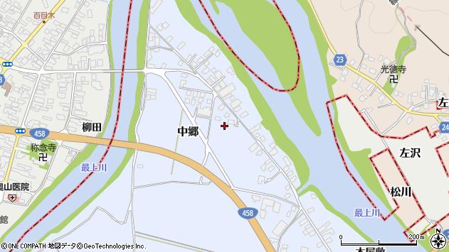 山形県寒河江市中郷1666周辺の地図