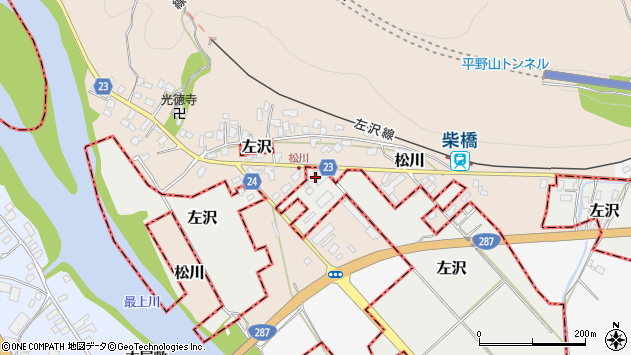 山形県西村山郡大江町左沢1792周辺の地図