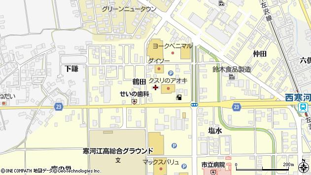 山形県寒河江市寒河江鶴田11周辺の地図