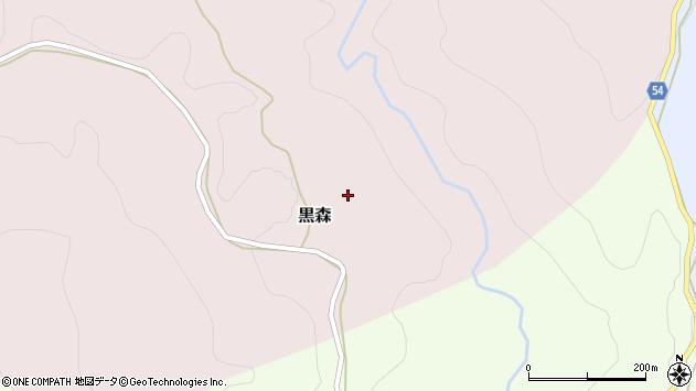 山形県西村山郡大江町黒森黒森周辺の地図