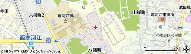 山形県寒河江市八幡町3周辺の地図