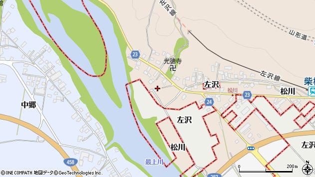 山形県寒河江市松川26周辺の地図