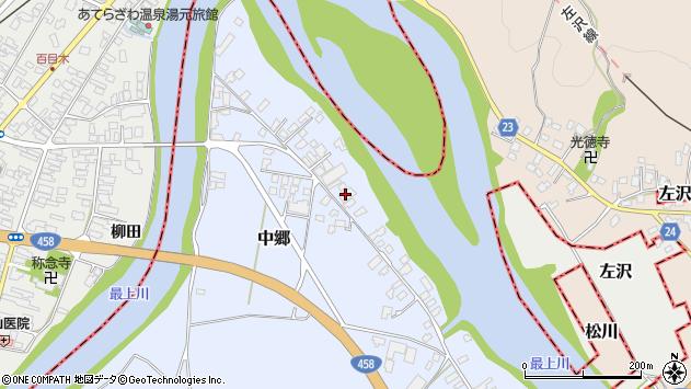 山形県寒河江市中郷1953周辺の地図