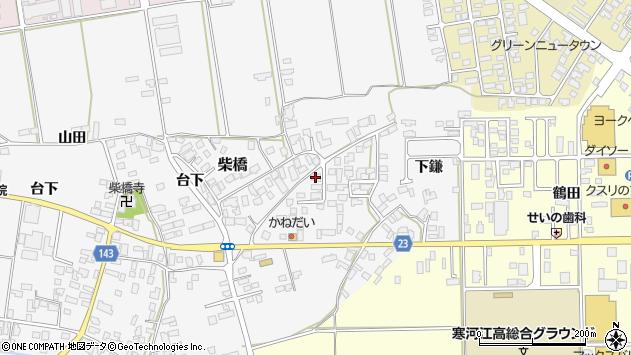 山形県寒河江市柴橋1016周辺の地図