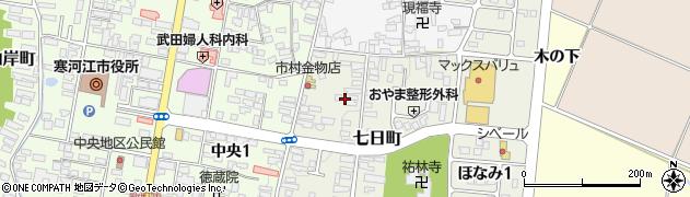 山形県寒河江市七日町2周辺の地図
