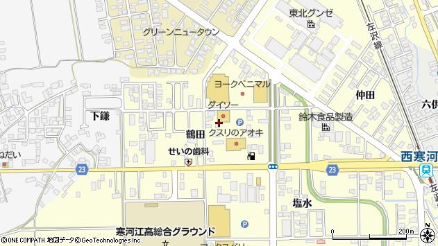 山形県寒河江市寒河江鶴田34周辺の地図
