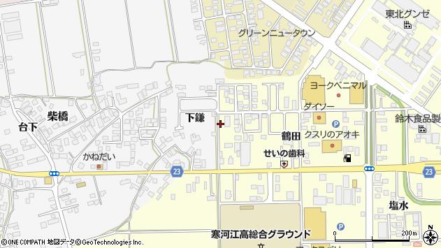 山形県寒河江市寒河江鶴田40周辺の地図