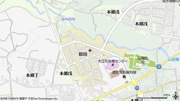山形県西村山郡大江町原田7周辺の地図