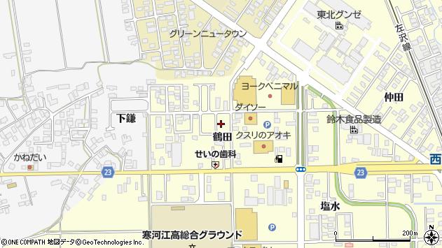 山形県寒河江市寒河江鶴田35周辺の地図