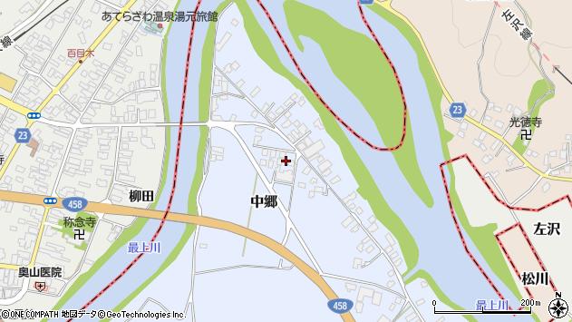 山形県寒河江市中郷1670周辺の地図