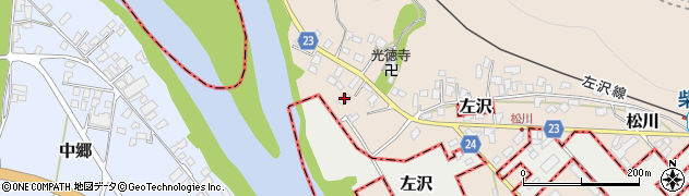 山形県寒河江市松川25周辺の地図