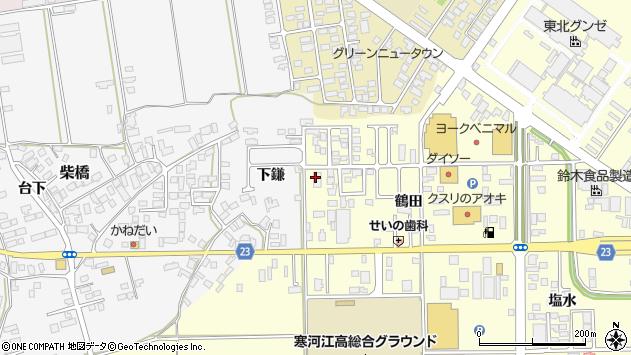 山形県寒河江市寒河江鶴田39周辺の地図