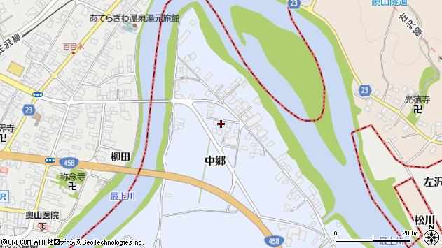 山形県寒河江市中郷1675周辺の地図
