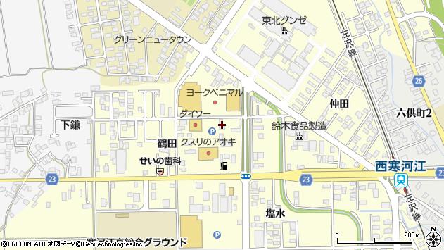 山形県寒河江市寒河江鶴田30周辺の地図