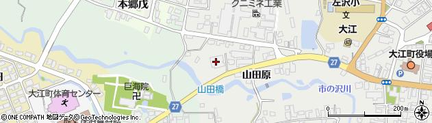 山形県西村山郡大江町左沢752周辺の地図