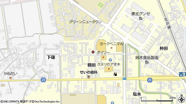 山形県寒河江市寒河江鶴田47周辺の地図