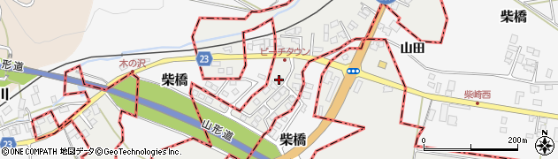 山形県西村山郡大江町左沢2141周辺の地図