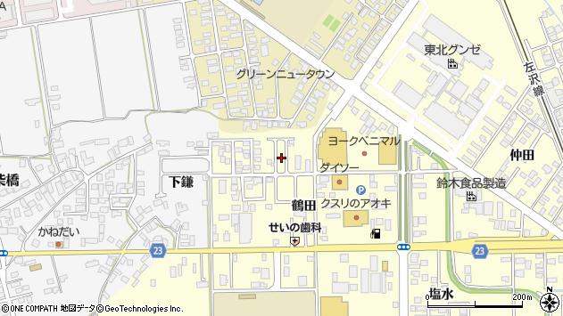 山形県寒河江市寒河江鶴田46周辺の地図