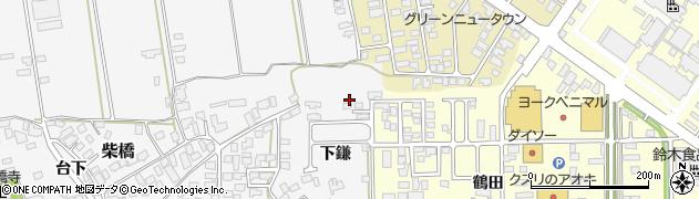 山形県寒河江市柴橋下鎌1039周辺の地図