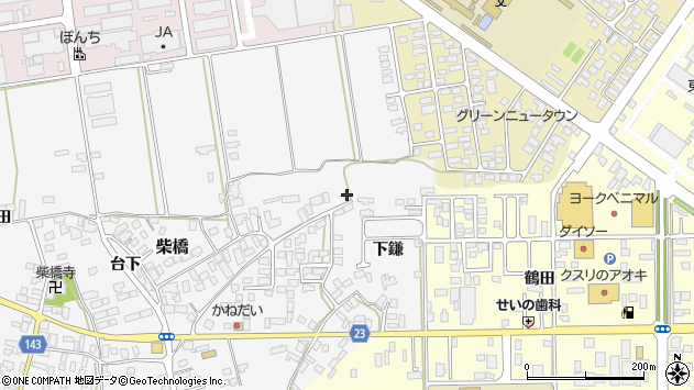 山形県寒河江市柴橋192周辺の地図