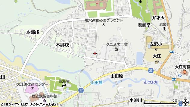 山形県西村山郡大江町左沢773周辺の地図