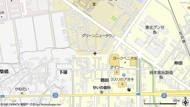 山形県寒河江市緑町104周辺の地図