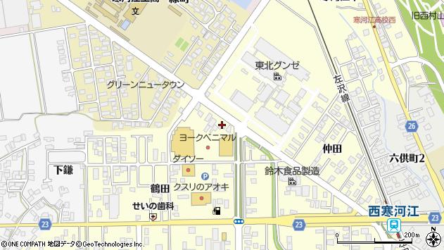 山形県寒河江市寒河江鶴田59周辺の地図