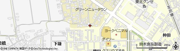 山形県寒河江市緑町105周辺の地図