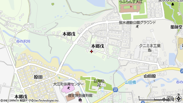 山形県西村山郡大江町本郷戊13周辺の地図