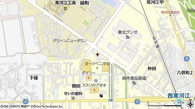 山形県寒河江市寒河江鶴田61周辺の地図