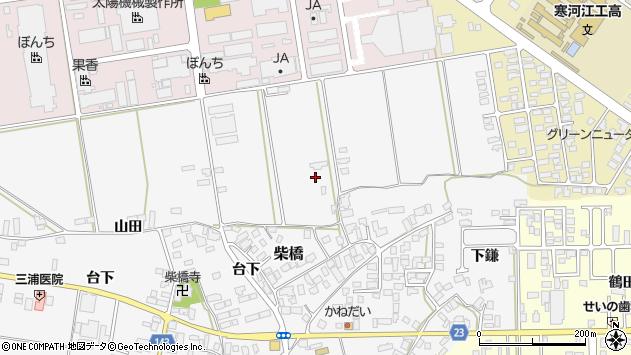 山形県寒河江市柴橋蛇塚周辺の地図