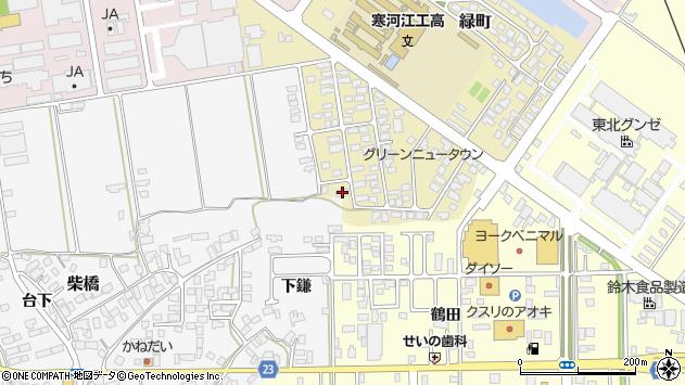 山形県寒河江市緑町65周辺の地図
