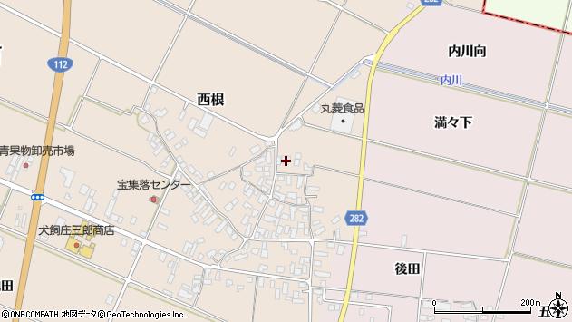 山形県寒河江市西根高畑1717周辺の地図