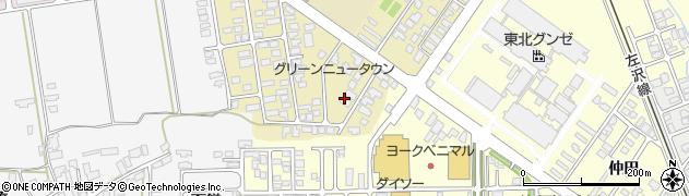山形県寒河江市緑町127周辺の地図