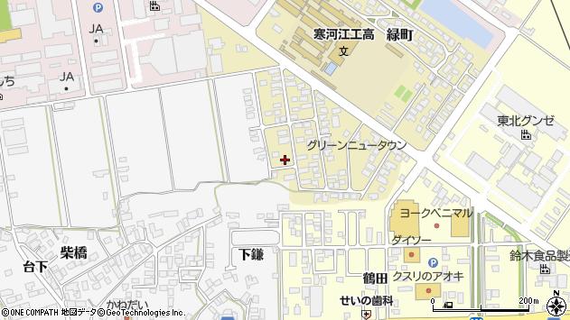 山形県寒河江市緑町57周辺の地図