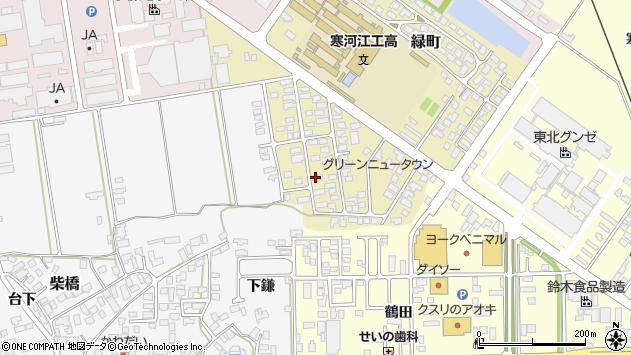 山形県寒河江市緑町62周辺の地図